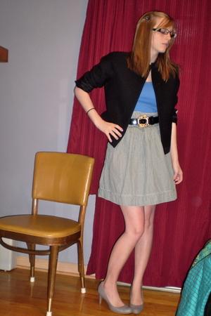 American Eagle skirt - Oscar de la Renta belt - neil barrett blazer