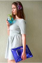 Topshop dress - asos bag - handmade hair accessory - deezee pumps