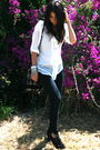 White-trinity-top-black-forever-21-jeans-black-topshop-shoes-black-topshop