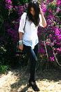 White-trinity-top-black-forever-21-jeans-black-topshop-shoes-black-topshop