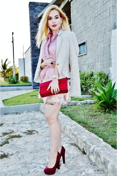 Studio F jacket - Mango bag - Zara blouse