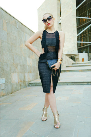 style moi dress - Chanel bag - Steve Madden heels - dior glasses