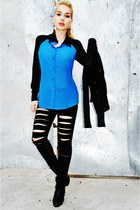 DIY pants - OASAP boots - romwe blouse