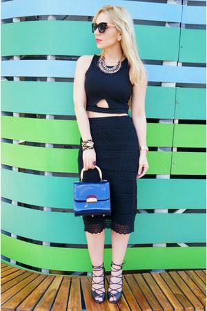 Guess watch - Noralozza bag - romwe sunglasses - storets top - Zara skirt