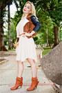 Macys-boots-sheinside-dress-forever-21-jacket-stradivarious-bag