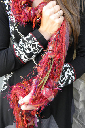 ruby red Scarves of Westwood scarf