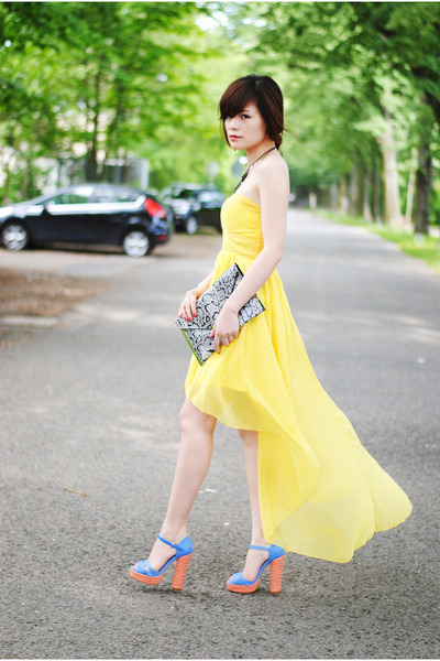 light yellow AX Paris dress