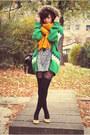 Aquamarine-only-jacket-black-h-m-socks-gold-h-m-scarf