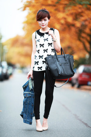 black Zara leggings