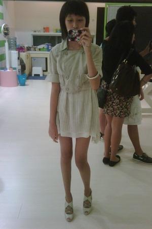 Korean boutique blazer - Korean boutique dress - Charles & Keith shoes