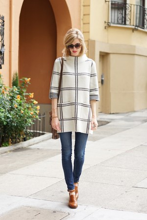 white Anthropologie sweater
