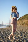 Tan-urban-outfitters-hat-light-pink-soprano-shorts