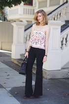 white free people top - black free people jeans