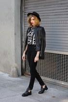 white H&M top - black H&M pants
