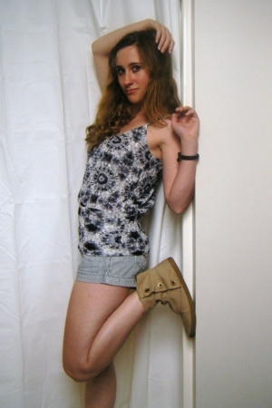 Charlotte Russe blouse - lei shorts - Mossimo shoes