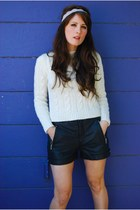 cotton braided thrift sweater - thrift shorts