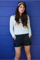 cotton braided thrift sweater - thrift shorts