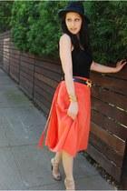 wool H&M hat - thrifted vintage belt - gladiator heels Steve Madden heels - cott