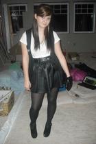 black Stitches top - white Divided by H&M t-shirt - black Sirens skirt - black H