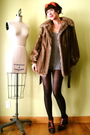 Brown-vintage-coat-beige-american-apparel-intimate