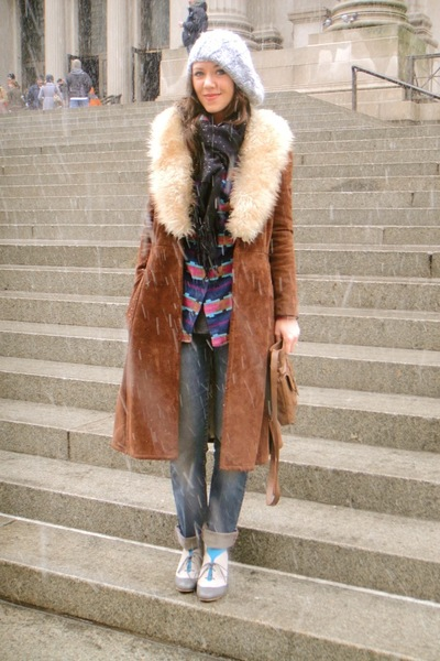 brown vintage coat