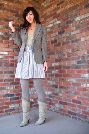 vintage blazer - top - christian dior belt - American Apparel skirt - American A