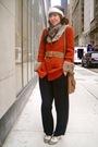 Orange-vintage-cardigan
