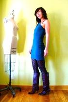 American Apparel dress - Target leggings - vintage boots