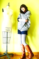 silver handmade sweater