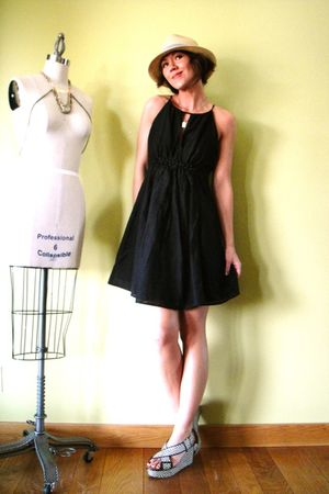 black Shopmaimiecom dress - gray Lucky Brand shoes