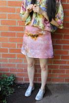 pink Christopher Kane skirt - white Wittner shoes