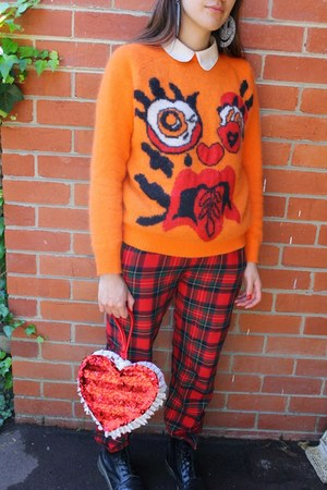 carrot orange Meadham Kirchhoff Topshop sweater - black Dr Martens boots