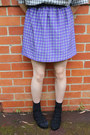 Black-thrifted-vintage-blouse-violet-romance-was-born-skirt