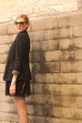 Forever-21-boots-black-anthropologie-blazer-silver-express-tights-ray-ban-