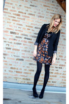 Tibi dress - Anthropologie blazer - H&M shirt - Urban Outfitters heels