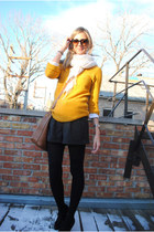 mustard Urban Outfitters sweater - Old Navy scarf - brown Chloe bag - Forever 21