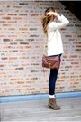 J-brand-jeans-zara-socks-zara-boots-gap-sweater-jcrew-shirt-rebecca-mi