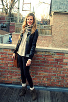 Zara boots - Zara jacket - Forever 21 sweater - madewell leggings - H&M scarf -