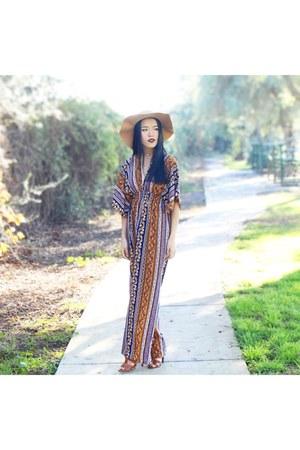 mustard tribal prints Rue 21 dress