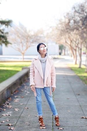 sky blue Target jeans - light pink Forever 21 jacket