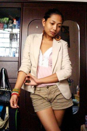 vintage g2000 blazer - random find top - Rocawear shorts - bought online accesso