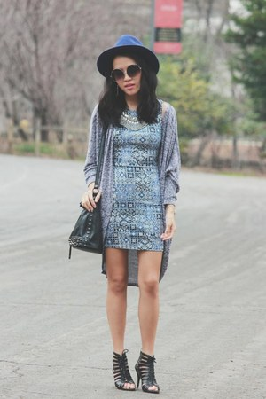 blue abstract Forever 21 dress