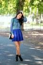 Blue-forever-21-skirt