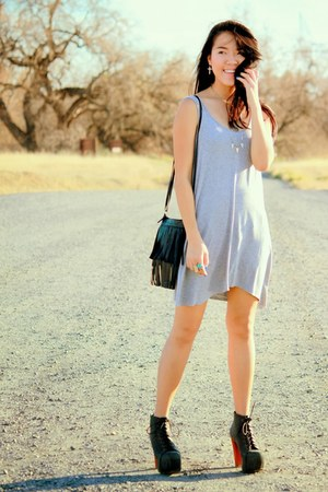 heather gray simple Forever 21 dress