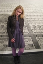 Zara jacket - pull&amp;bear dress - H&amp;M tights - local brand