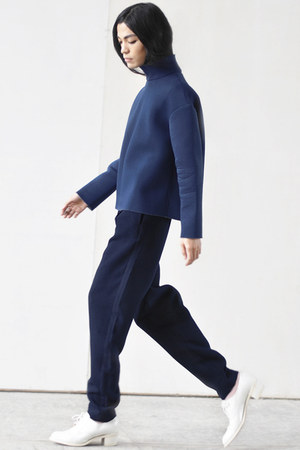 Front Row Shop sweatshirt - navy Front Row Shop pants