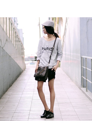 Mark R shoes - Mango sweater - Kipling bag