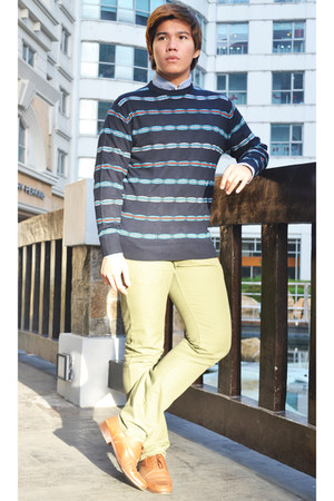 blue Topman sweater - burnt orange Shoes shoes - sky blue 5cm top
