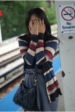 American Apparel skirt - American Apparel top - jacket - vintage belt - Aldo acc