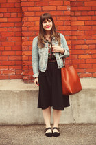 black modcloth skirt - blue Forever21 jacket - tawny madewell bag